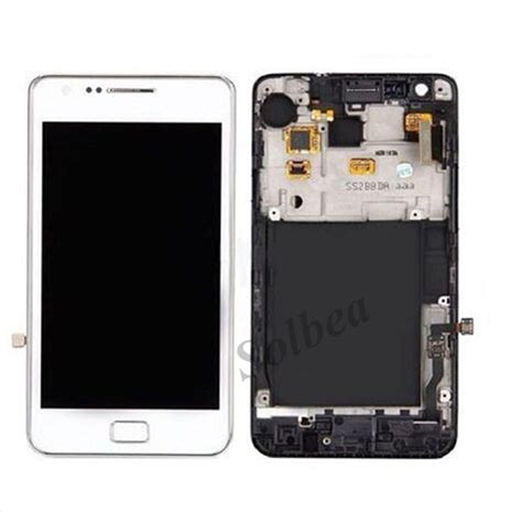 Lcd Samsung Galaxy S2 I9100 Touchscreen Original original lcd display touch screen digitizer with middle frame replacement part for samsung