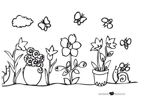 dibujos para colorear primavera dibujo de la estacin de primavera para colorear dibujos