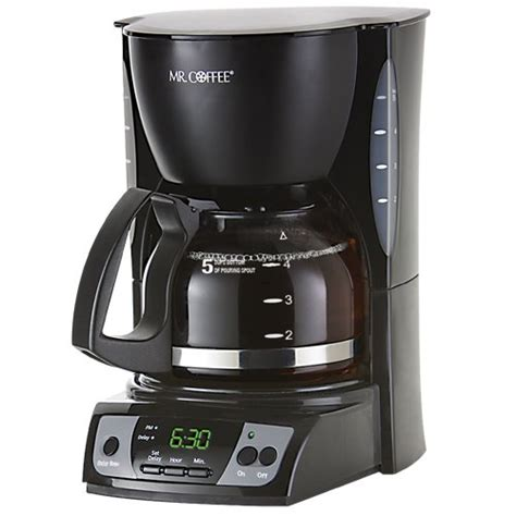 Mr. Coffee CGX7 5 Cup Programmable Coffeemaker, Black   cheap Coffee Maker on sale