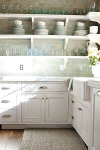 White Backsplash Tile For Kitchen by Green Subway Tile Backsplash Transitional Kitchen