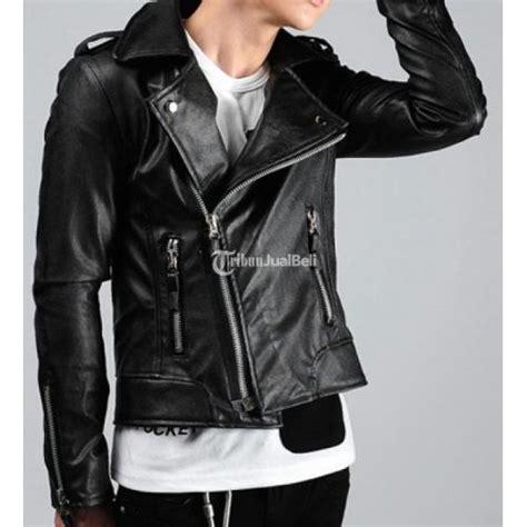 Jacket Kulit Pria Blazer Style Korean Kulit Domba Asli Garut jaket kulit korea sk 19 warna hitam dengan style biker jaket jogja dijual tribun jualbeli