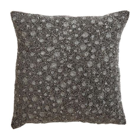 silver beaded pillow silver beaded square pillow