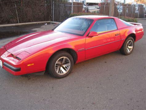 pontiac firebird coupe 1986 red for sale 1g2fs87sxgl213450 1986 pontiac firebird red original