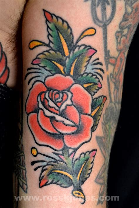 american traditional rose tattoos ross k jones sailor jerry ross k jones