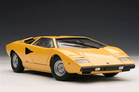 yellow lamborghini countach autoart lamborghini countach lp400 yellow 74646 in 1