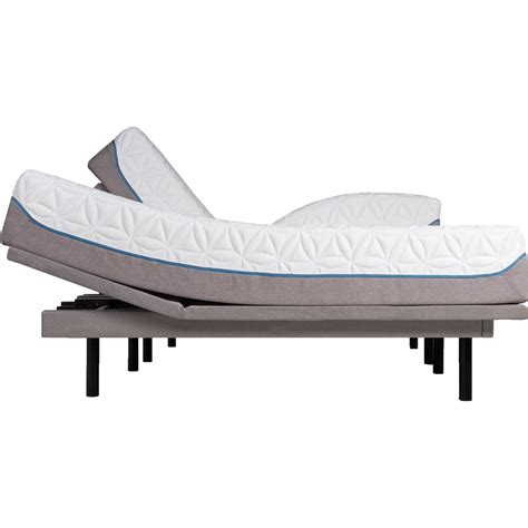 tempur pedic tempur cloud elite split king sleep system with ergo adjustable base mattresses