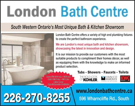 bathroom stores london ontario london bath centre opening hours 596 wharncliffe rd s