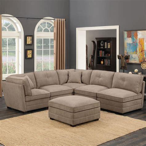 modular living room furniture uk barrington 6 modular beige fabric sectional sofa all sofas living room furniture