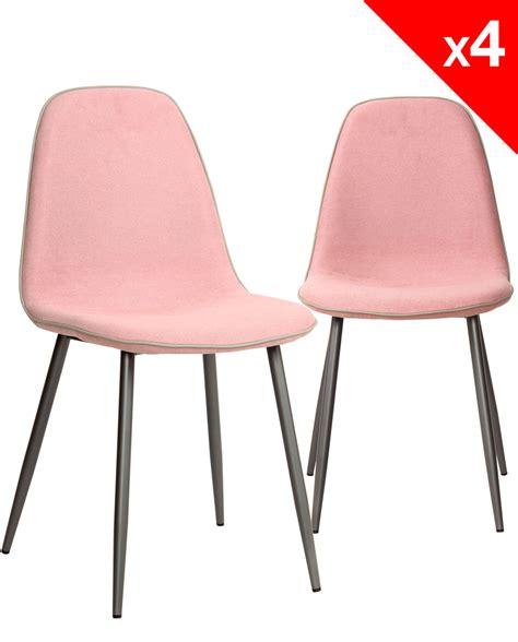 lot chaises chaises design tissu et m 233 tal lot de 4 184 9