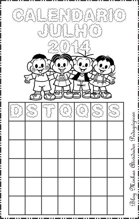 Calendario 9 De Julho Minhas Atividades Pedag 243 Gicas Calend 225 2014 Turma Da