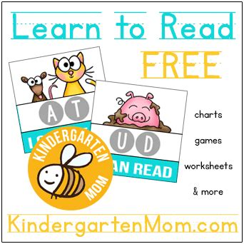 Learn To Read Worksheets For Kindergarten by Sight Word Printables