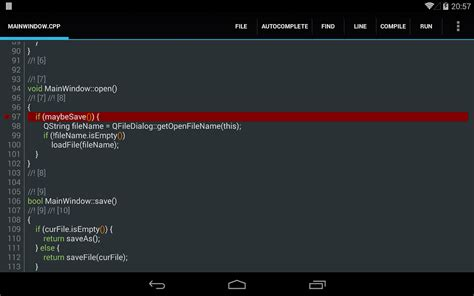 best c compiler c4droid c c compiler ide android apps auf play