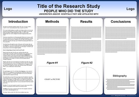 templates for research posters free powerpoint scientific research poster templates for