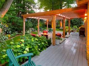 backyard pergola 20 outdoor structures that bring the indoors out hgtv