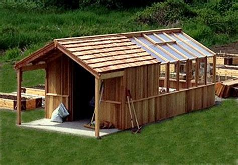 Shed With Greenhouse Attached by Greenhouse With Attached Shed Gardens Landscaping