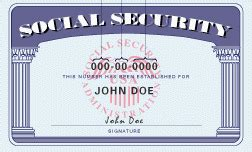 social security card template sle social security number card