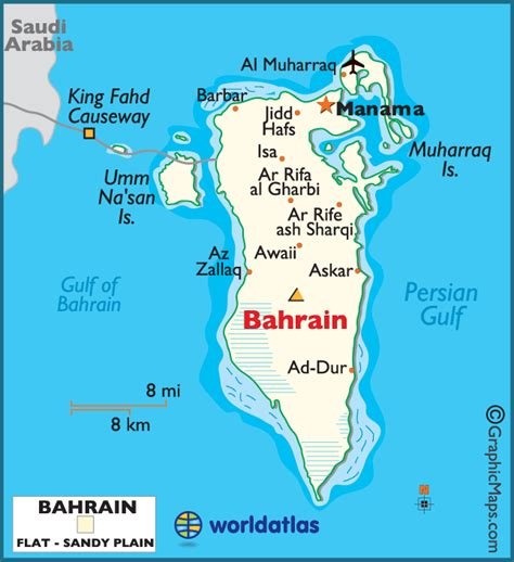 bahrain map with cities bahrain large color map