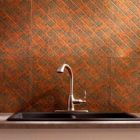 decorative backsplash panels fasade 24 in x 18 in quilted pvc decorative backsplash panel in copper b54 11 the