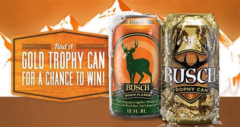 Find A Gold Trophy Can 2016 In The Busch Light