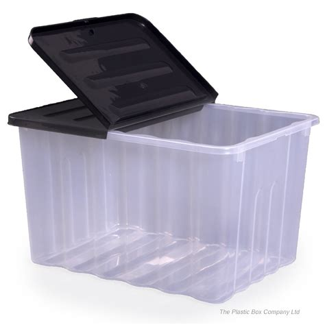 bathroom storage boxes with lids buy 110lt strata large plastic storage box and lid