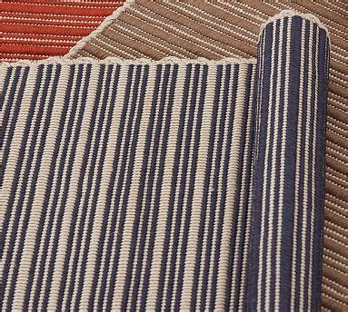 Outdoor Striped Rug Reversible Striped Indoor Outdoor Rug Blue Pottery Barn