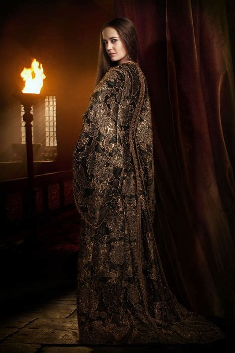 Promo Fashion Viviann Motif Salur 1765 green as in camelot tv series 2011 series costume design by joan bergin