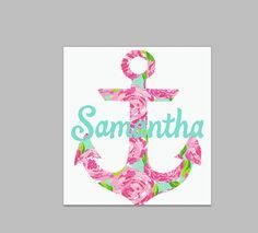 lilly pulitzer yeti cooler wrap your name custom decal sticker for your yeti rambler