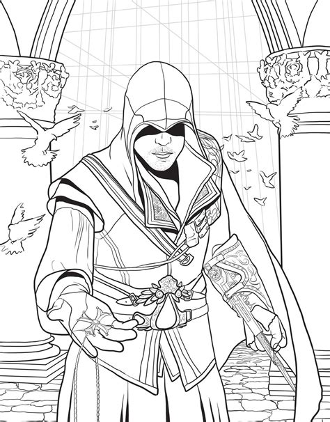 Assassin's Creed - The Official Colouring Book Paperback