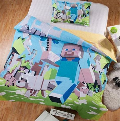 Minecraft Comforter Set by Best 25 Minecraft Bedding Ideas On Bed