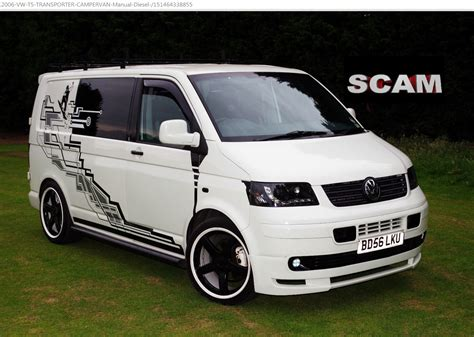 volkswagen caravelle 2006 scam 2006 vw t5 transporter campervan quot bd56lku quot ebay fraud