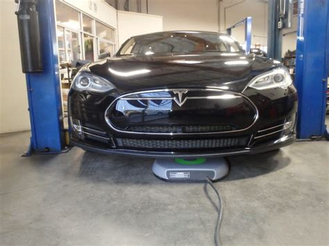 tesla model s charging home wireless charging for tesla model s now being delivered by