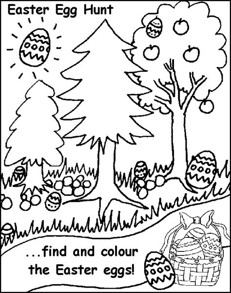 easter egg hunt free coloring pages for printable