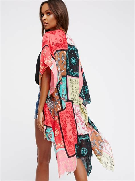 Patchwork Kimono - voodoo child patchwork kimono at free clothing boutique