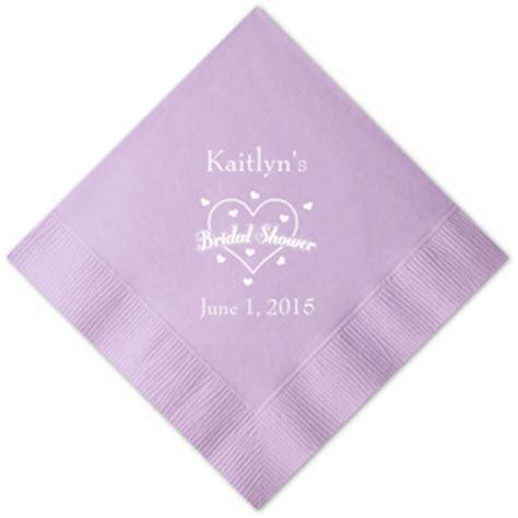 bridal shower personalized napkins 25 pcs bridal