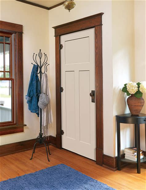interior wood trim styles painted craftsman door with wood trim drunken diy