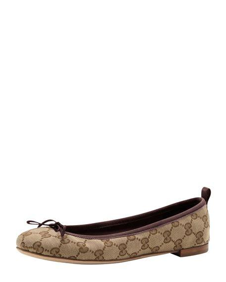 Flat Shoes Ballerina Canvas Gucci 7311 Semprem gucci gg bow ballerina flat cocoa