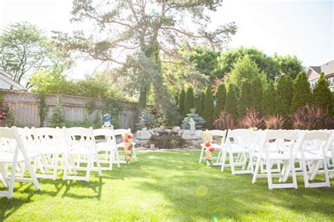 an intimate backyard garden wedding in mississauga