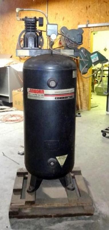 sanborn manufacturing commercial air compressor model 500b60 60 gallon phase 1
