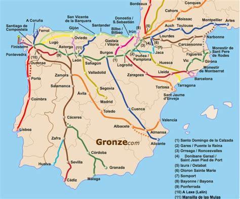 camino de santiago mappa 191 qu 233 camino de santiago elegir to santiago