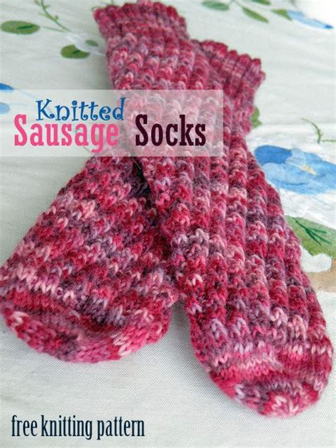 knitted sausage pattern knitting knitting patterns and sock on