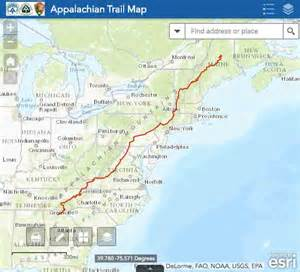 map of appalachian trail in explore