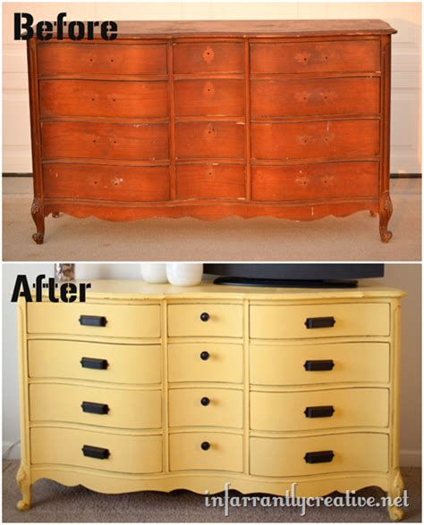 Painted Yellow Dresser by Yellow Painted Dresser Infarrantly Creative