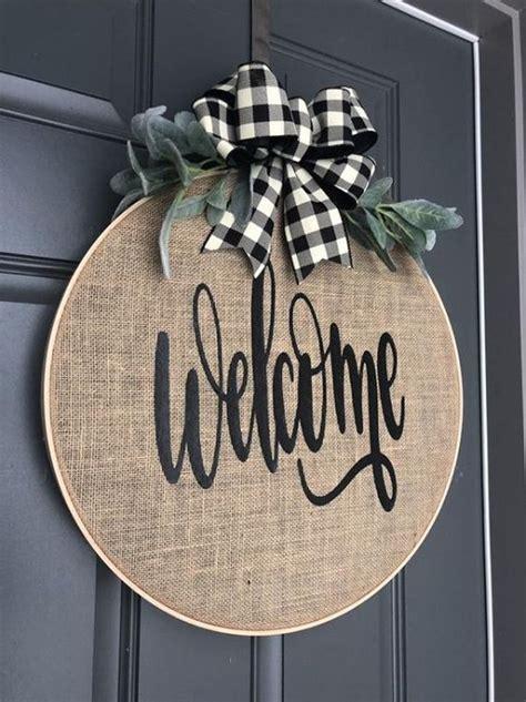 front door  sign diy  home