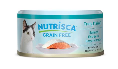 nutrisca food nutrisca 174 truly flaked 174 salmon entr 233 e in savory broth canned cat food