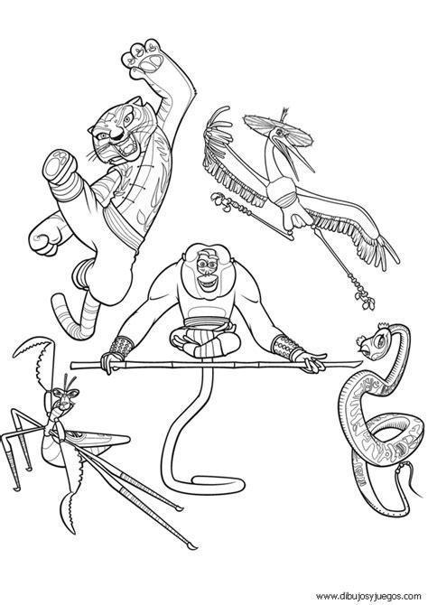 imagenes para colorear kung fu panda 2 dibujo kung fu panda 043 dibujos y juegos para pintar y