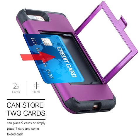 Wallet Mirror Skin fashion wallet mirror phone with card holder cover