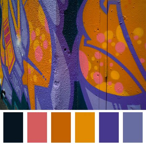 graffiti colors purple orange colour palette graffiti palette diy