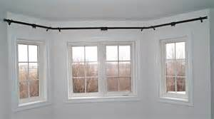 Bay window curtain rods lowes home design ideas
