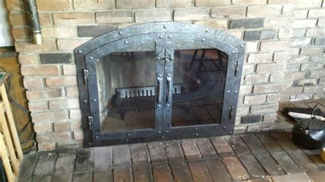 Iron Fireplace Doors by Custom Hammered Iron Fireplace Doors Fireplace Screen Twisted