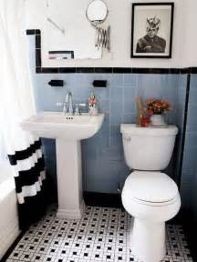 31 retro black white bathroom floor tile ideas and pictures vintage and retro style bathroom ideas